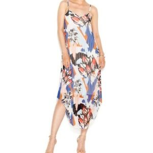 Bar Iii Pleated Printed Midi Dress